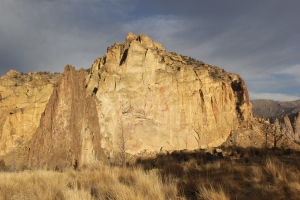 Totally perfect lunch wall at Smith Rocks
